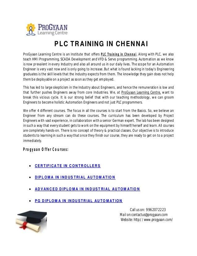 BEST PLC Training In Chennai | Progyaan