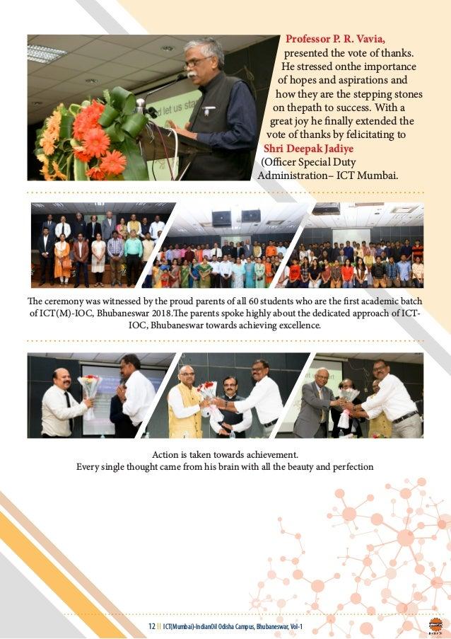ICT (Mumbai)- IndianOil Odisha Campus, Bhubaneswar- e