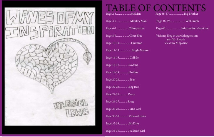 TABLE OF CONTENTSPage 2-3.....................Mr.Man         Page 36-37......................Big BrotherPage 4-5.............