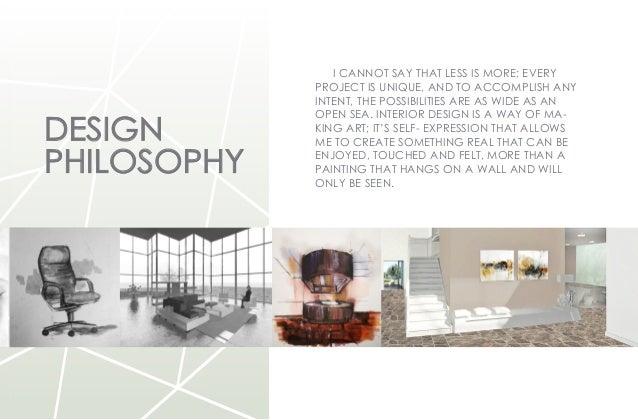 Interior design philosophy