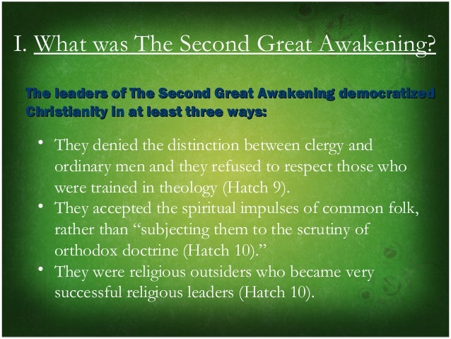 nathan o hatchs point of view on the second great awakening A billion reasons living, surviving,  from the point of view of a church  create space has a great program that will verify pictures and once you are.