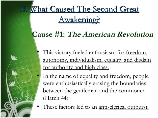 causes of the second great awakening