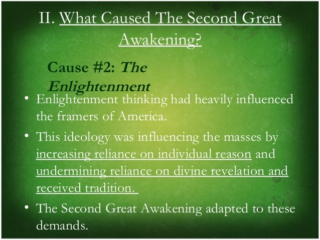the great awakening and the enlightenment The great awakening was a series of religious revivals that swept over the  a  new age of faith rose to counter the currents of the age of enlightenment,.