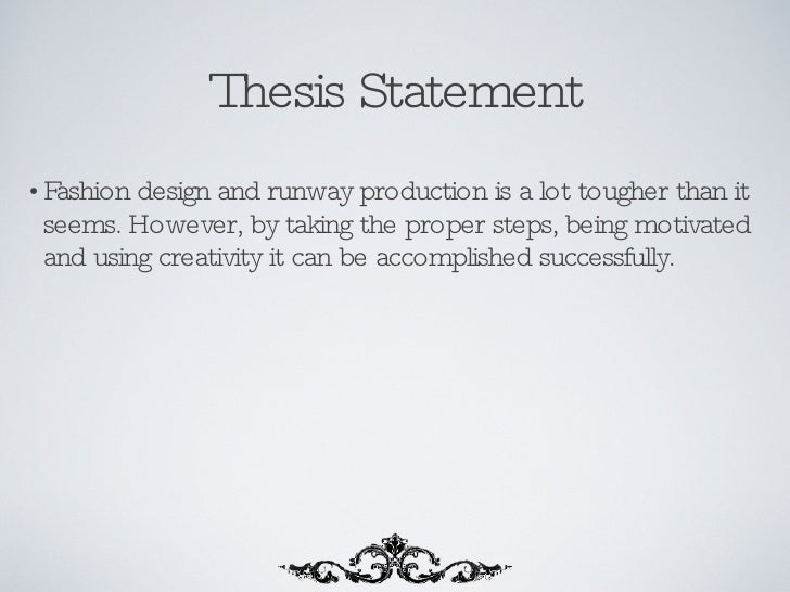 thesis statement about clothes