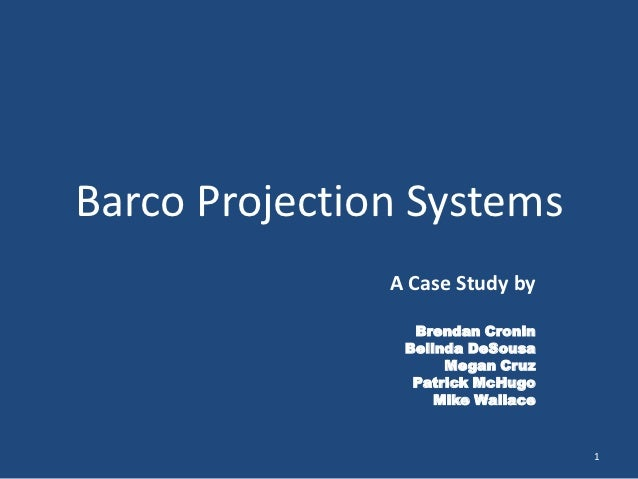 Barco case discussion essay