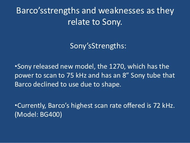 Barco Case Analysis