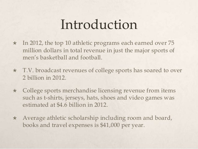 should college athletes be paid for playing sports essay If you need to write should college athletes be paid essay,  just because they were playing  deserve to be paid for what they do college sports is a.