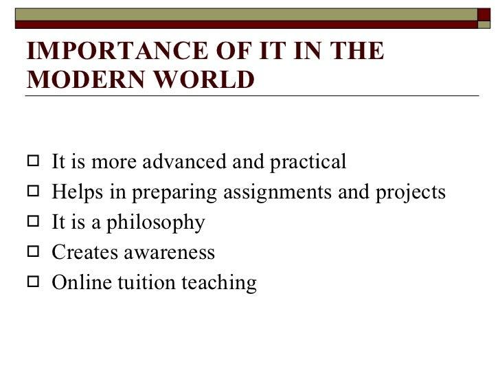 IT in the modern world Slide 2