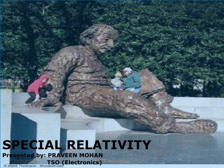 SPECIAL RELATIVITY Presented by: PRAVEEN MOHAN TSO (Electronics)