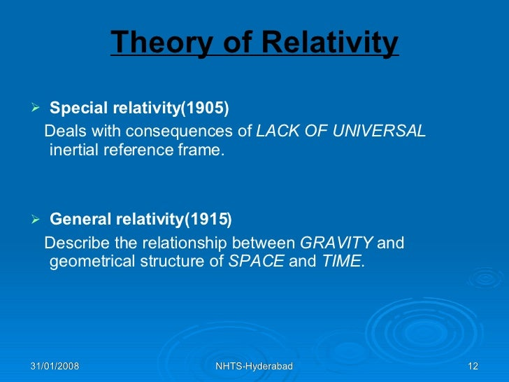 relationship between special and general relativity