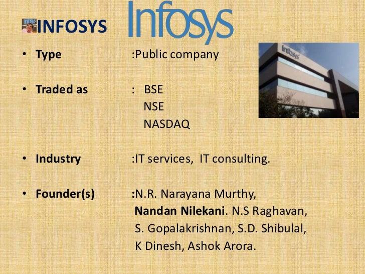Headquarte     : Bengaluru, Karnataka.Area served    : Worldwide.Employees      :1,33,560 (March 2011)Total equity   : US$...