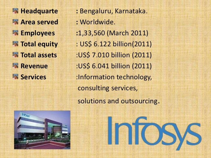 Infosys Limited, formerly known as Infosys TechnologiesLimited.Infosys is the second largest IT company in India with1,33,...