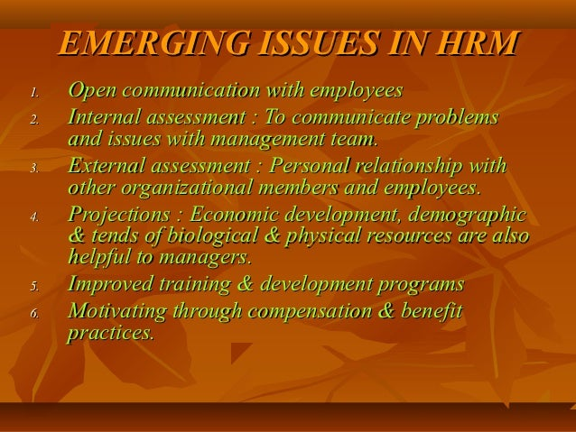 emerging trends in hrm 2019