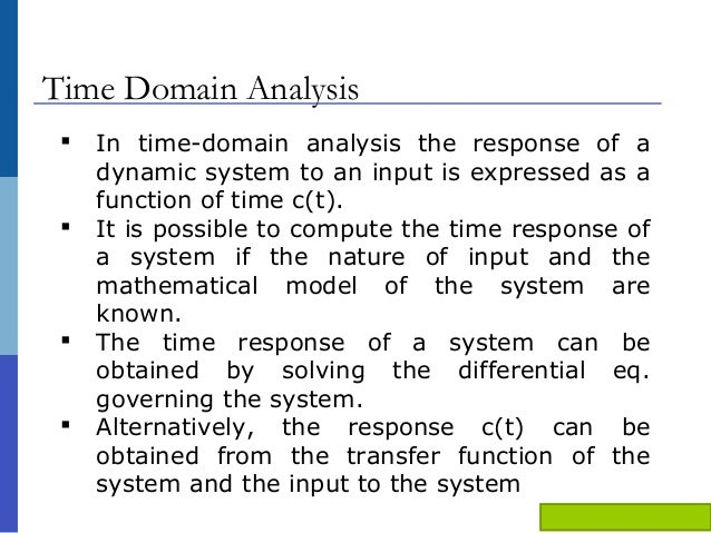 Ppt On Time Domain And Frequency Domain Analysis