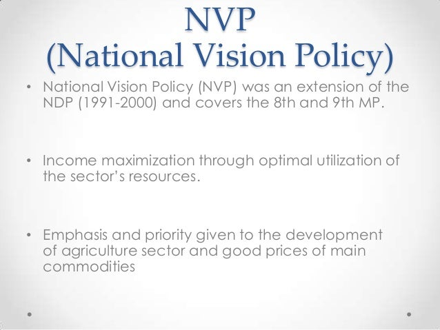 national vision plan in malaysia Recognised the need to prepare a new national development vision which will guide economic and social development efforts up to the year 2025 the objective of this development vision is to awaken, co-ordinate and direct the people's efforts.