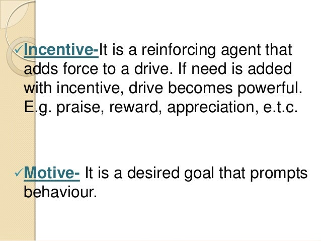 incentive theory of motivation pdf