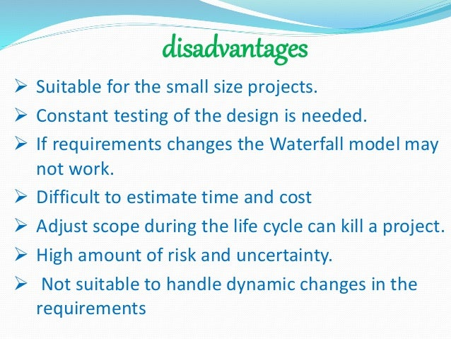 Waterfall model for Waterfall model is not suitable for