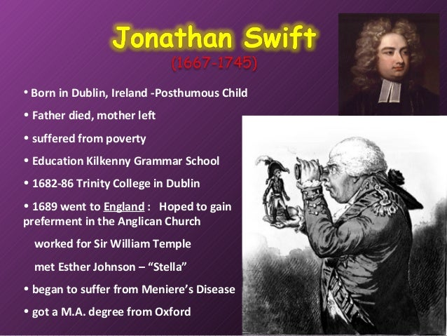 jonathan swifts proposal for saving ireland in modern proposal A modest proposal by jonathan swift home /  by the time swift published a modest proposal,  swift wrote a couple sermons on the conditions in ireland that .