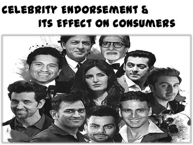 Celebrity endorsement and its impact on sales