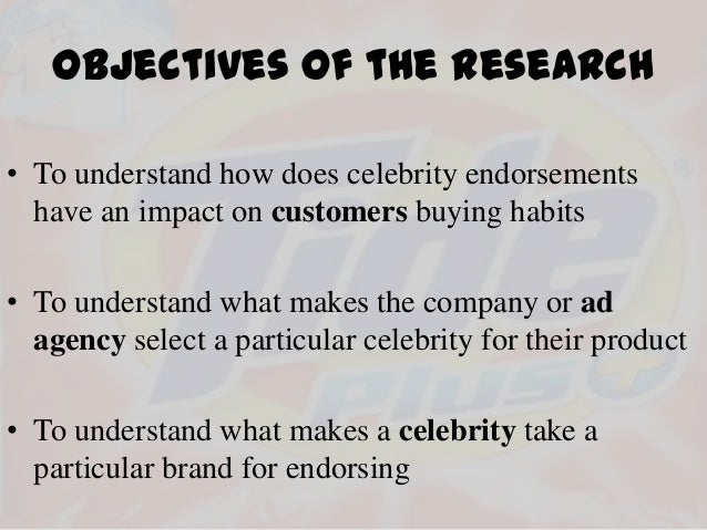 effect of celebrity endorsements on consumers 1 the effects of celebrity endorsement on consumers' attitude towards the brand and purchasing intention compiled by: stella chrisma adyatami.