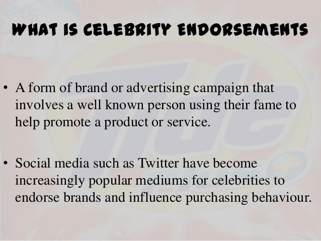 the effect of celebrity endorsement on How much celebrity endorsements actually influence election results  the oprah effect was in full  a celebrity endorsement will make much less difference, he.