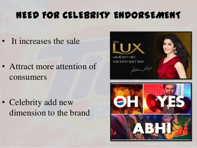 The Effects OF Celebrity Endorsement in Advertisements