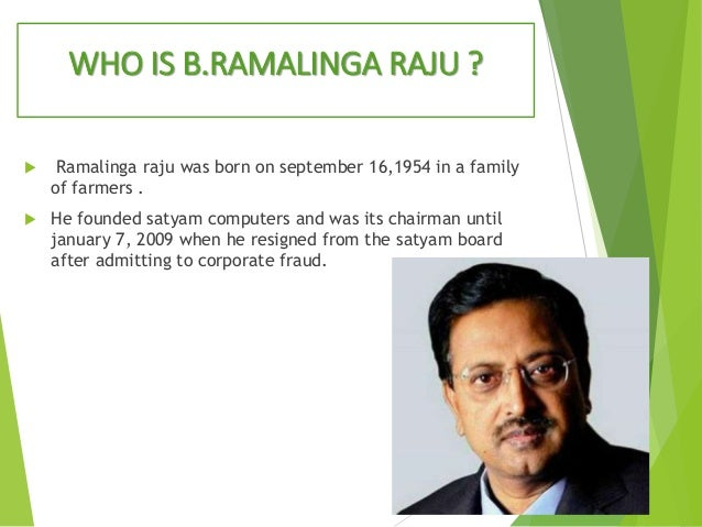 Satyam Case Study – Ramalinga Raju Resignation Letter