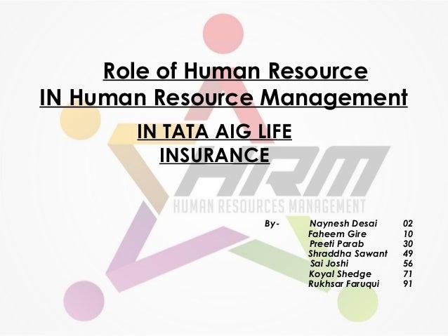 Role of Human Resource IN Human Resource Management By- Naynesh Desai 02 Faheem Gire 10 Preeti Parab 30 Shraddha Sawant 49...