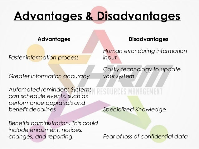advantages and disadvantages of hrm ppt