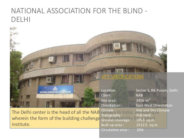 Centre for blinds and visually impaired