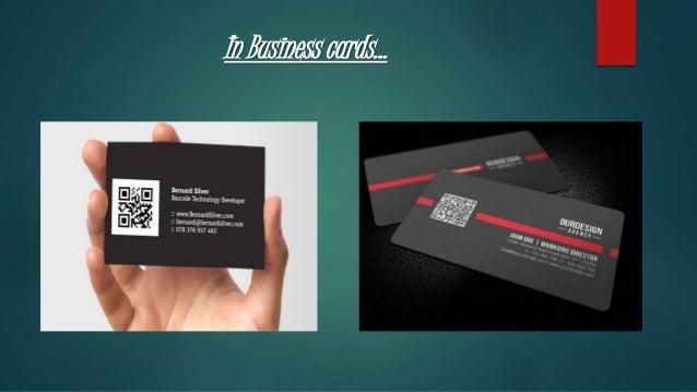 Qr code presentation slide in business cards reheart Images