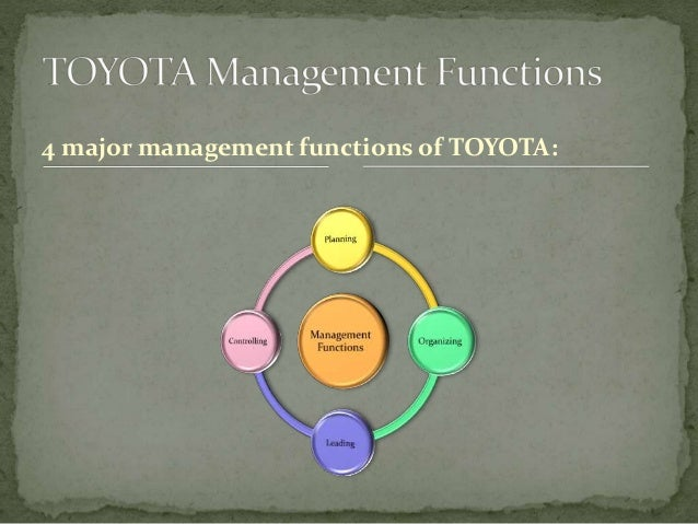 planning function of management at toyota Management model because it weaves together the vertical (line) functions of  management with the  toyota's product planning system market research.