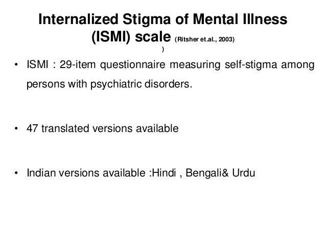 Stigma Intervention And Scales For Assesment