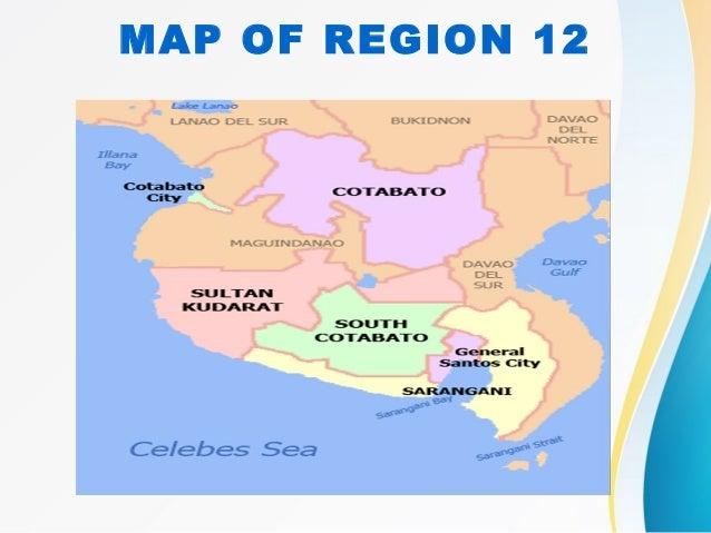 Region 12 Map Philippines Region 12 (Sarangani and Sultan Kudarat)