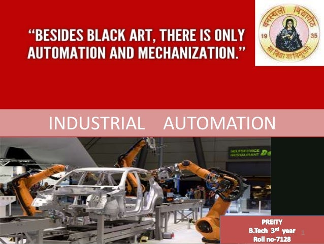 1 INDUSTRIAL AUTOMATION