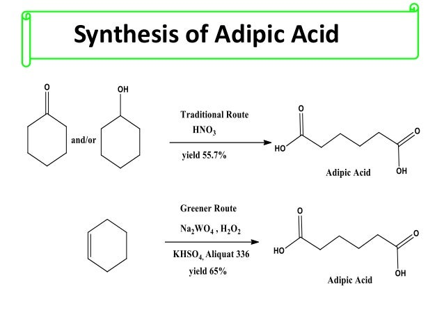synthesis of adipic acid The focus of this lesson will be on a specific organic compound known as adipic acid we will discuss how adipic acid is synthesized and produced .