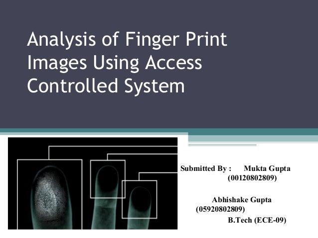fingerprint images enhancement ppt