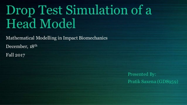 Drop Test Simulation of a Head Model