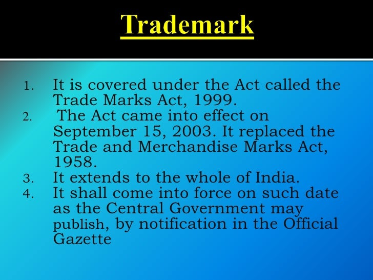    Trademark:     A symbol, logo, word, sound, color,      design, or other device that is used to      identify a busin...
