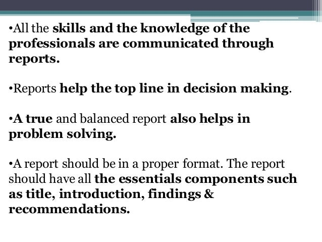 technical report writing ppt