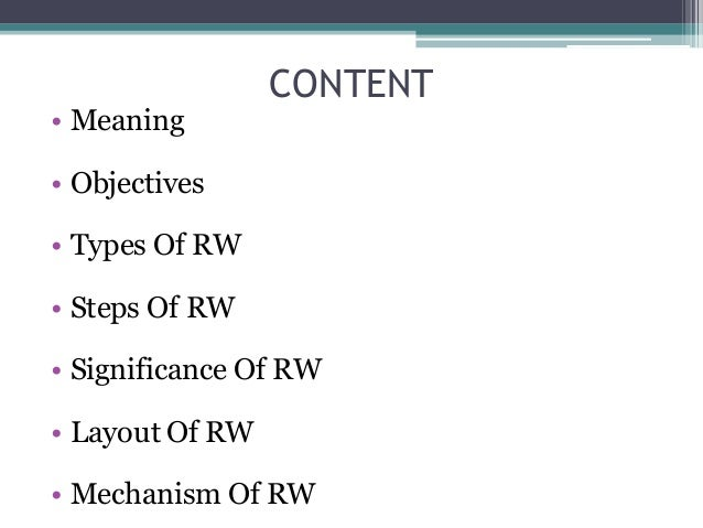 report writing meaning