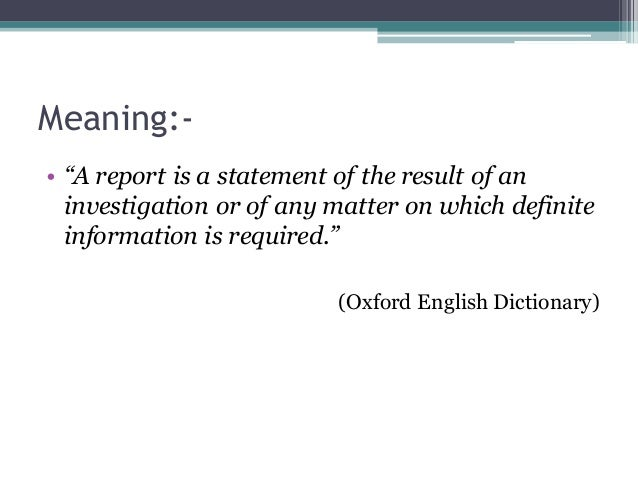 Ppt on report writing.