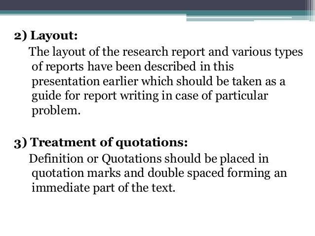Basics of report writing.