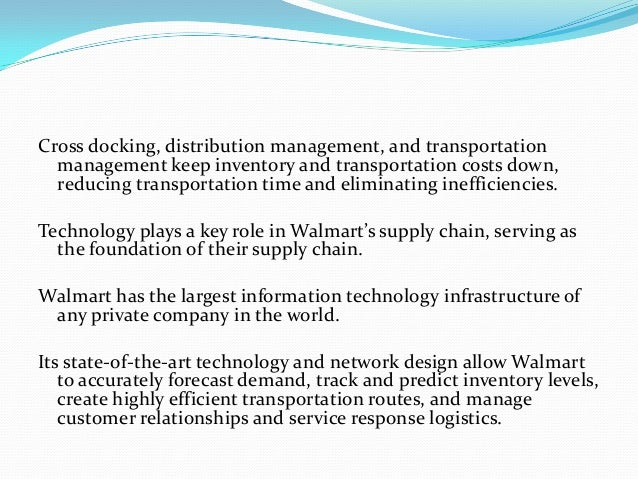 Wal-Mart s Supply Chain Management Practices