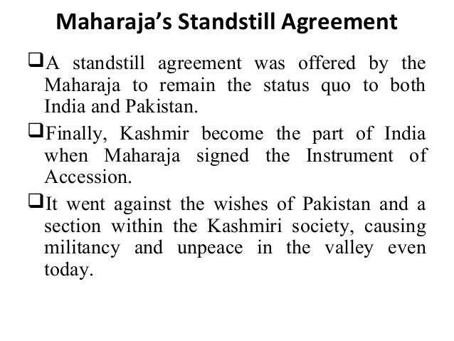 Ppt on dogra rule in kashmir 19 maharajas standstill agreement platinumwayz
