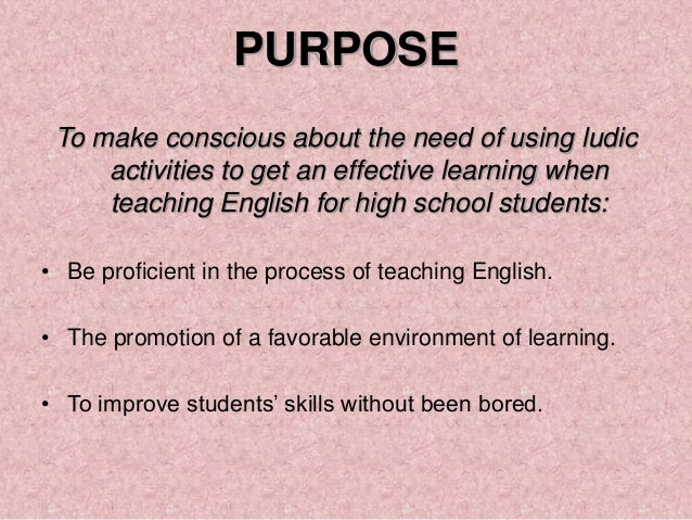 The Use Of Ludic Activities To Encourage English Learning