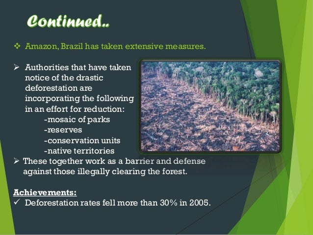 The issue of deforestation and overpopulation in the environment