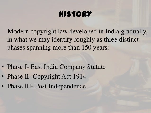 a history of the copyright concept and the protection of intellectual property Foreign friends know how in the future to discern and protect one  intellectual  property ideas, a process he calls learning the law at  see generally paul  goldstein, copyright's highway 37-53 (1994) wendy j.