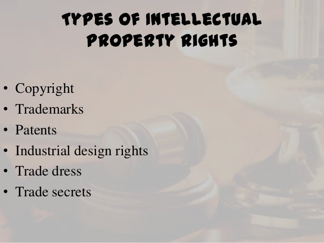 the two categories of the intellectual property rights Intellectual property is divided into two categories industrial property from oie 3460 at worcester polytechnic institute find study resources main menu  • ip rights allow creators,  • the importance of intellectual property was first recognized in the paris convention for the protection of industrial property.