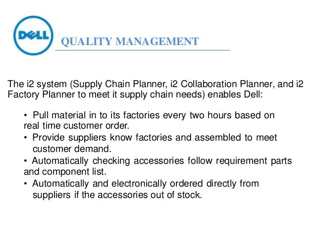 """quality management in dell 14 quality management systems f or more than two decades """"quality"""" and """"quality manage-ment systems"""" have been leading buzzwords in the busi."""